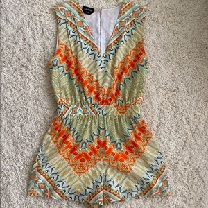 Sleeveless Printed Jumpsuit (shorts)
